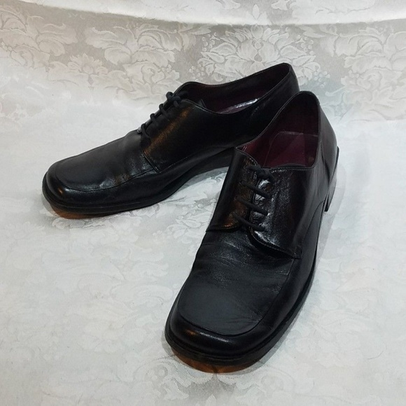 Club Black Leather Loafer Lace Up